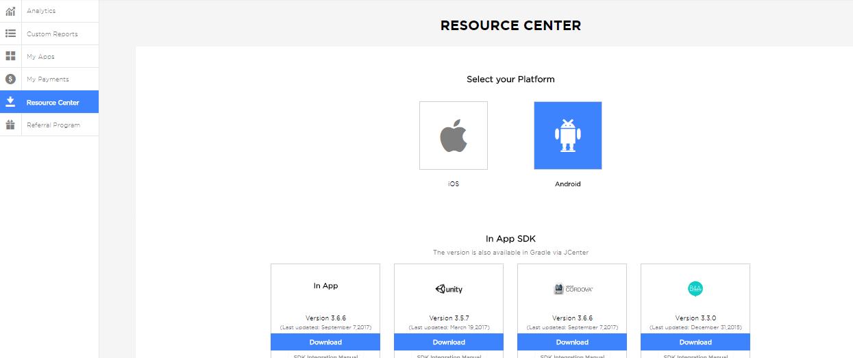 publisher portal - resource center